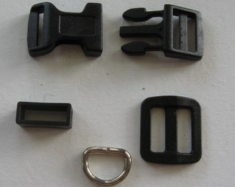 Dog Collar Hardware 10 Sets 5/8""