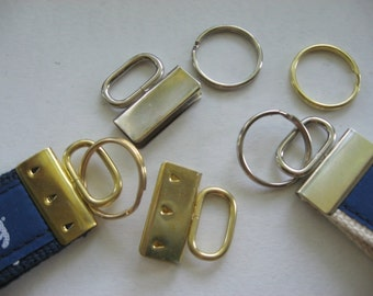 25 ct OVAL top nickel KEY FOB hardware