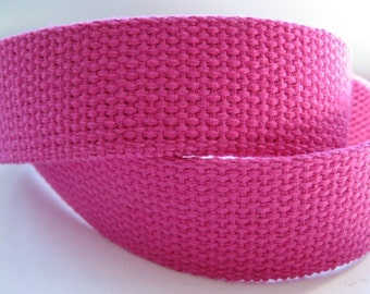 "Cotton Webbing 1 1/4"" Fuchsia For Key Fobs Handbags Belts"