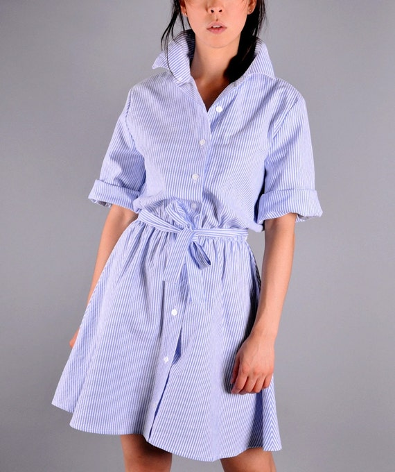 The perfect blue and white striped shirt dress for Perfect white dress shirt