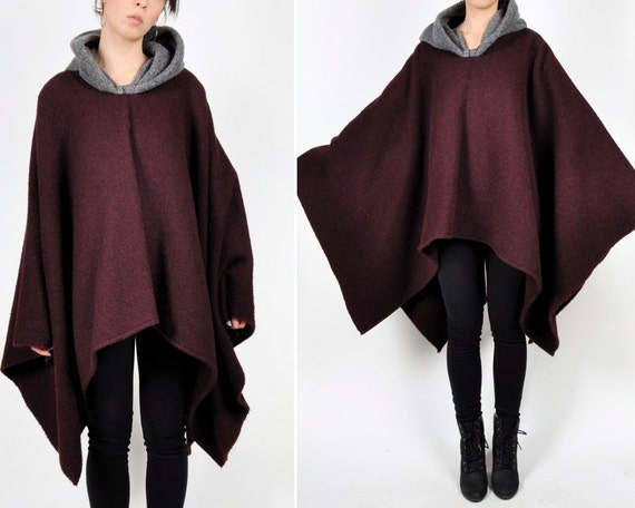Vintage Wool Hooded Cloak