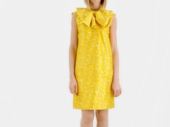 PAULINE TRIGERE Yellow Bow Dress