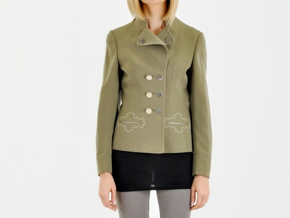Wool Trachten Olive Green Jacket