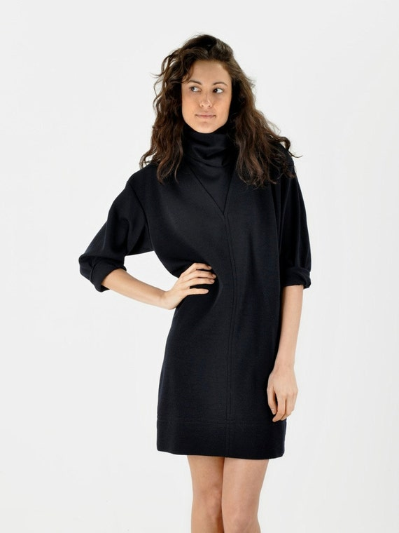 Saint Laurent Turtleneck Mini Dress