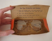 Vintage Willson Safety Spectacles - Steampunk - orange original box to keep your eyes safe
