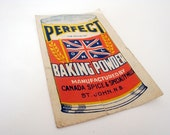 RARE Antique Perfect National Baking Powder Coupon from Saint John, NB