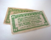 2 Vintage 1920's Harry Horne Aluminum coupons NU-JELL
