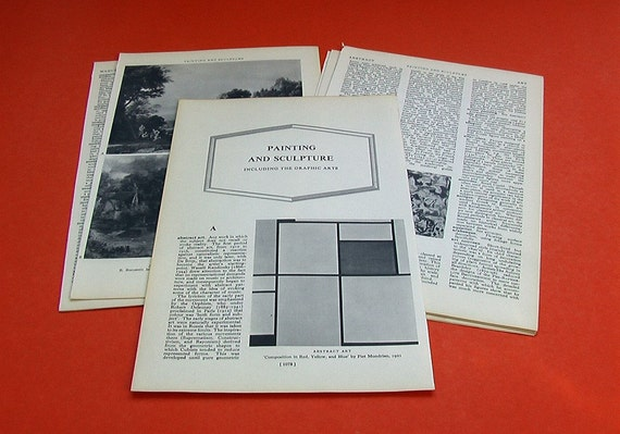 Vintage - Painting and Sculpture Including the GRAPHIC Arts - 11 pages - 1965