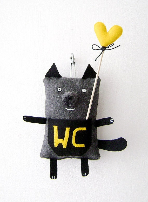 WC Cat Bathroom Decor Cat by krize on Etsy