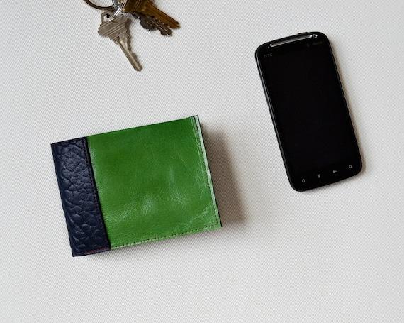 Leather Frankie Wallet in Green