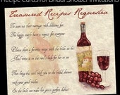 QTY 100 Tuscan Amore Bridal Shower Wedding Favors Recipe Cards