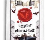 qty 100 Halloween Gothic Theme Wedding Favors Tea Bags