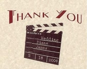 Movie Hollywood Theme Wedding Favors Thank You Cards qty 30