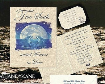 qty 50 Dolphin Wedding Invitations Reception Cards moon Style A Theme