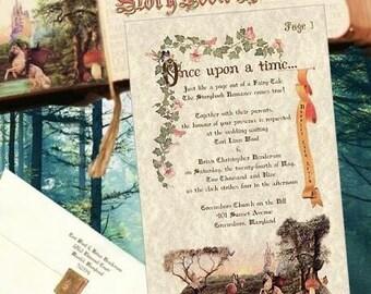 qty 25 Wedding invites, birthday, sweet 16, anniversary Invitations Storybook Cinderella Fairytale Theme