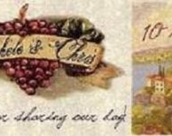 Wedding Invitations Favors Favor Tags Tuscan Amore Itialian wine tasting Theme qty 100