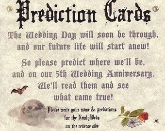 Wedding Favors Halloween Gothic Graveyard Prediction Cards QTY 25