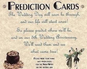 qty 150 Irish Claddagh Shamrock Wedding Favor Favors Prediction Cards