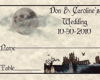 qty 50 Halloween Gothic Wedding Favors Place Cards