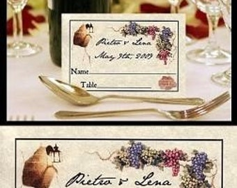 Tuscan Amore Italian Wedding Favor Place Cards qty 50