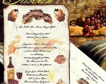 qty 125 Tuscan Amore Italian Wedding Invites, birthday, anniversary, baby / bridal shower, vow renewal Invitations Scrolls Response Cards