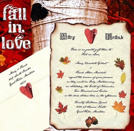 Fall Color Wedding Invitations: Qty 50 Fall Autumn Scroll Wedding Invites Birthday By