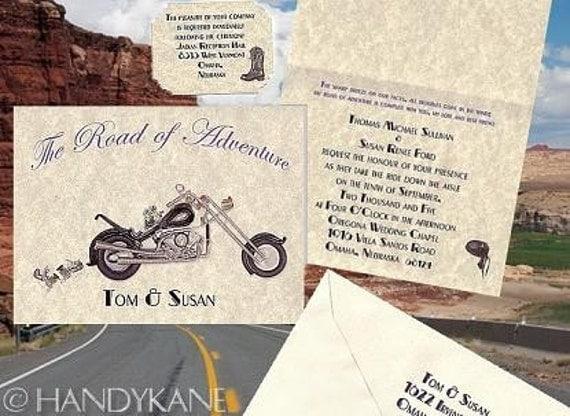 Biker Wedding Invitations: Motorcycle Harley Ring Favors BIKER Wedding Invitations