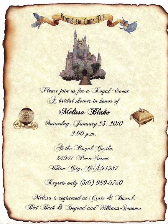 Fairy Tale Invitation as luxury invitations sample