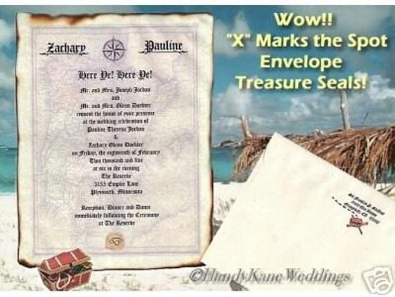 qty 50 Treasure Map salior pirate Wedding Scroll Invitations & Response Cards