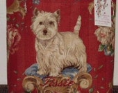 Westie Handbag Tote Bag West Highland White Terrier Jofa ROYAL CLASS LINEN