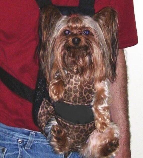 Dog BackPack Carrier Back Pack Front Frontal Cat Pet Comfortable Leopard Toy Size Med  Large