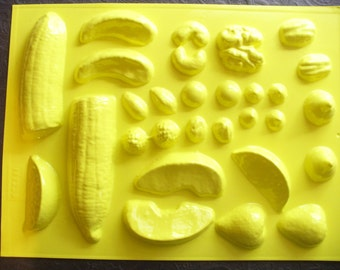 Candle Mold Fruits Nuts & Candy Banana Berry Drops