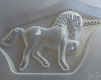 "Resin Mold Unicorn Horse 7x4"" 188x108mm Chocolate Fondant"