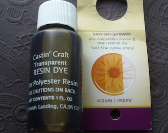 Amber Transparent Dye Colorant Resin Epoxy Easy Cast