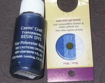 Blue Transparent 29ml Dye Colorant Resin Epoxy Easy Cast