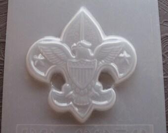 "Resin Mold Eagle Emblem Boy Scouts 3.5"" 87mm Chocolate Fondant"