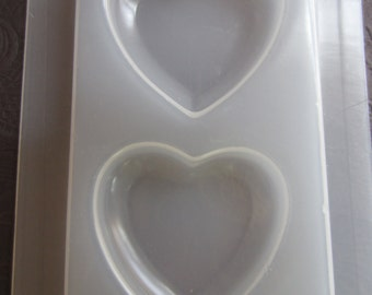 "Resin Mold Hearts 2"" 53mm 2 Count Chunky Heart Pendant Embed Fun Items Chocolate Fondant"