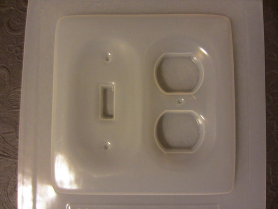 Resin Mold Light Switch Plate & Outlet Cover Plain Double Plate