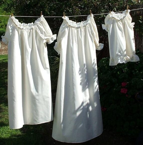 CUSTOM Renaissance Chemise Nightgown Costume Girls size 6 to 14