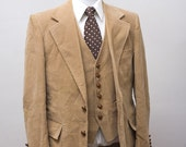 Size 42 Vintage Corderoy Vest and Coat