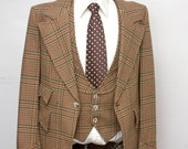 Size 42 Vintage Three Piece Suit
