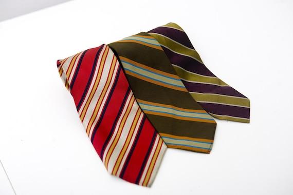 Reserved for Katrina // Vintage Striped 2 Tie Set