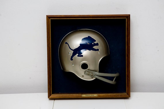 RESERVED LISTING for TODD ///  Vintage Detroit Lions Helmet Wall Hanging