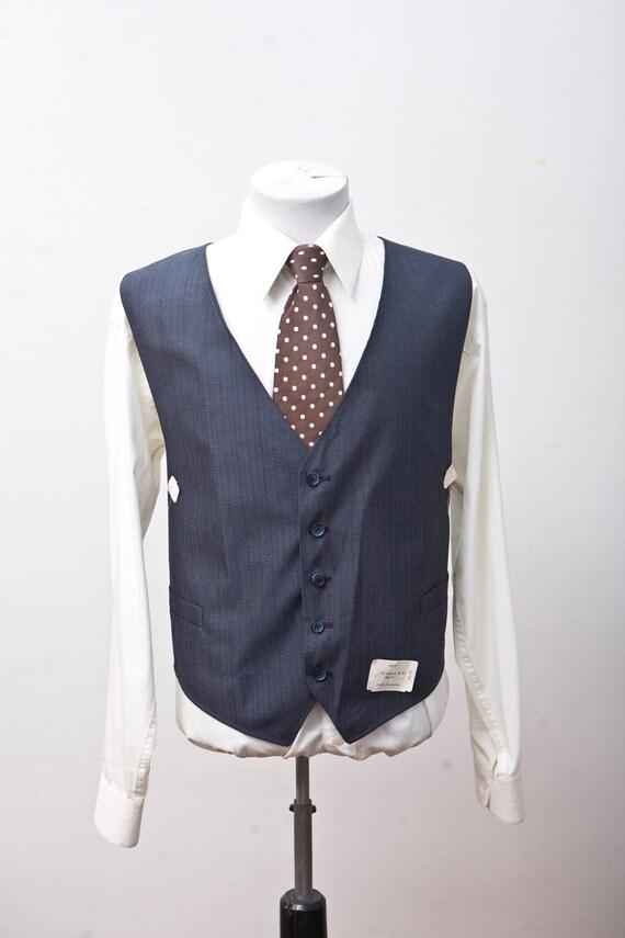 Size 52 NOS Vintage Navy Vest