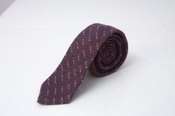 Vintage Purple Wool Necktie