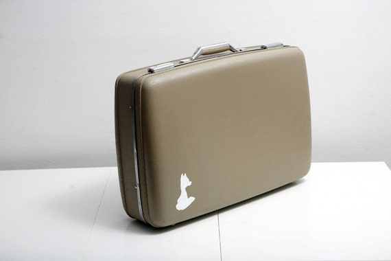 Hand Painted Vintage American Tourister Suitcase