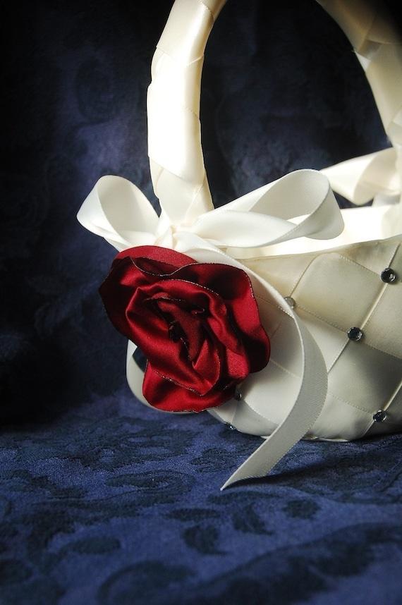 E Pattern PDF Woven Ribbon Flower Girl Basket