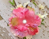 LILY Hair Flower Clip PINK XL