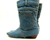 DENIM booties with ANKLE pocket SO CUTE