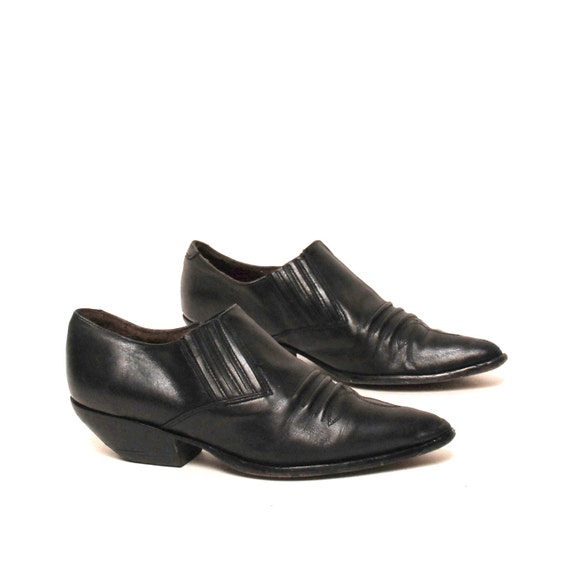 size 7.5 MINIMAL black leather 80s SOUTHWEST ankle booties GUESS by Georges Marciano